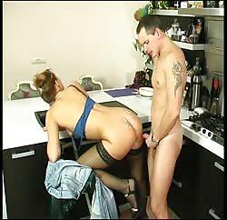Blonde MILF got her ass covered in cum