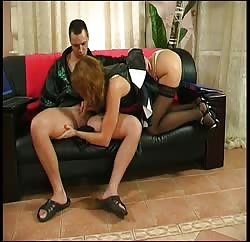 Naughty blonde MILF playing naughty with her stepson