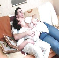 BBW mommy seduced a young guy