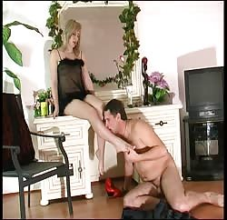 Kinky and hot MILF uses her new sex slave