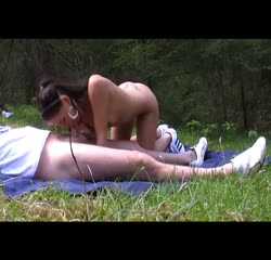 Picnic sex by a horny couple